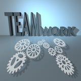 Bedrijfs groepswerk en succes Stock Fotografie
