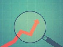 Bedrijfs het groeien grafiek royalty-vrije illustratie
