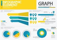 Bedrijfs het infographic/infographic element/ontwerp van de hoogtekwaliteit Royalty-vrije Stock Foto's