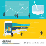 Bedrijfs het infographic/infographic element/ontwerp van de hoogtekwaliteit Royalty-vrije Stock Fotografie