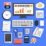 Bedrijfs het werkelementen Stock Fotografie