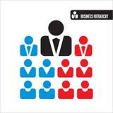 Bedrijfs hiërarchiepictogrammen Royalty-vrije Stock Afbeelding