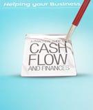 Bedrijfs hulp en cash flow. Royalty-vrije Stock Afbeelding
