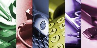 Bedrijfs hulpmiddelen - collage Royalty-vrije Stock Foto