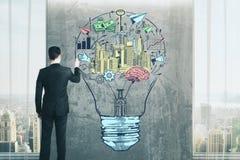 Bedrijfs ideeconcept Stock Afbeeldingen