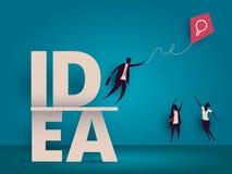 Bedrijfs ideeconcept Managers die voor vlieger worstelen stock illustratie