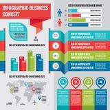 Bedrijfs infographic conceptenlay-out in vlakke ontwerpstijl voor presentatie, boekje, website en andere ontwerpprojecten stock illustratie