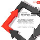 Bedrijfs infographic 3D abstracte achtergrond Royalty-vrije Stock Afbeeldingen