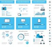 Bedrijfs infographic elementen Royalty-vrije Stock Afbeeldingen