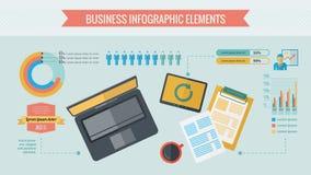 Bedrijfs infographic elementen Stock Fotografie
