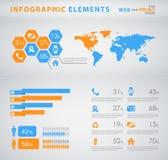 Bedrijfs infographic elemnts Stock Foto