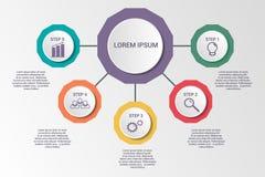 Bedrijfs infographic malplaatje royalty-vrije illustratie