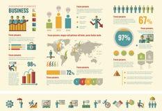 Bedrijfs infographic malplaatje Stock Foto's