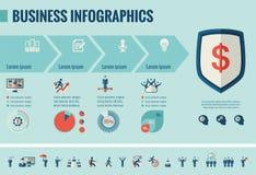 Bedrijfs infographic malplaatje Stock Foto