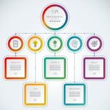Bedrijfs infographic malplaatje met 5 stappen Stock Foto