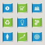 Bedrijfs infographic pictogrammen Royalty-vrije Stock Afbeelding