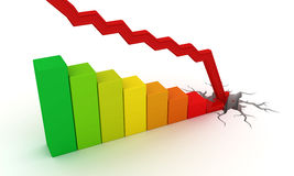 Bedrijfs instorting stock illustratie