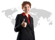 Bedrijfs Internationale Vrouw stock foto's