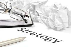 Bedrijfs of investeringsstrategieconcept Royalty-vrije Stock Afbeelding