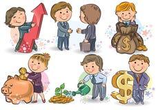 Bedrijfs jonge geitjes Royalty-vrije Stock Afbeelding