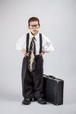 Bedrijfs jongen Stock Foto's