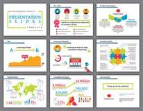 Bedrijfs kleurrijke infographicspresentatie Stock Fotografie