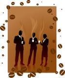 Bedrijfs koffiepauze Royalty-vrije Stock Foto