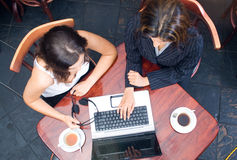 Bedrijfs koffietijd Royalty-vrije Stock Afbeeldingen