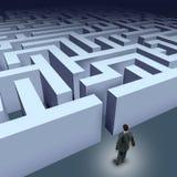 Bedrijfs labyrintuitdaging Stock Afbeelding