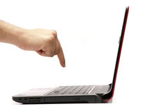 Bedrijfs Laptop Royalty-vrije Stock Afbeelding
