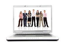 Bedrijfs laptop computer Stock Foto's