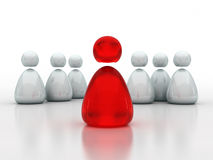 Bedrijfs leiding en teamconcept Stock Illustratie
