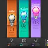 Bedrijfs lightbulb conceptenstappen die Idee denken Royalty-vrije Stock Foto's