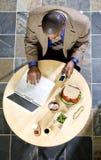 Bedrijfs Lunch Royalty-vrije Stock Afbeeldingen