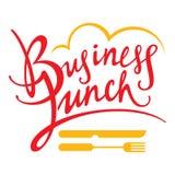 Bedrijfs Lunch royalty-vrije illustratie