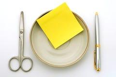 Bedrijfs lunch Stock Afbeelding
