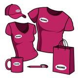 Bedrijfs malplaatje. De mannen en de vrouwen van de t-shirt. Royalty-vrije Stock Foto