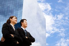 Bedrijfs man en vrouw Stock Afbeeldingen