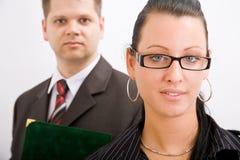 Bedrijfs man en vrouw Stock Foto