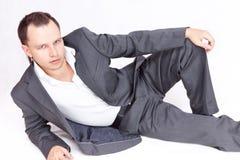 Bedrijfs mannelijk model Royalty-vrije Stock Afbeeldingen