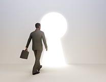 Bedrijfs mannelijke sleutel tot succes royalty-vrije illustratie