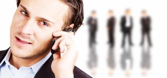 Bedrijfs mededelingen stock fotografie