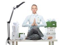 Bedrijfs meditatie Stock Foto