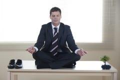 Bedrijfs meditatie royalty-vrije stock foto's