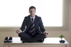 Bedrijfs meditatie Stock Fotografie