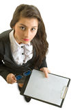 Bedrijfs meisje. Royalty-vrije Stock Foto