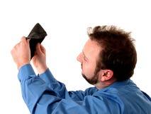 Bedrijfs Mens in Blauw (Geen Geld) stock fotografie