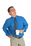 Bedrijfs mens in blauwe #5 Stock Foto