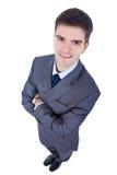 Bedrijfs mens, breed hoekschot Stock Fotografie