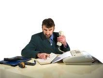 Bedrijfs mens in bureau Royalty-vrije Stock Afbeelding
